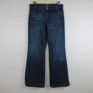 7 for all mankind High Rise Wide Leg Flare Jean C6
